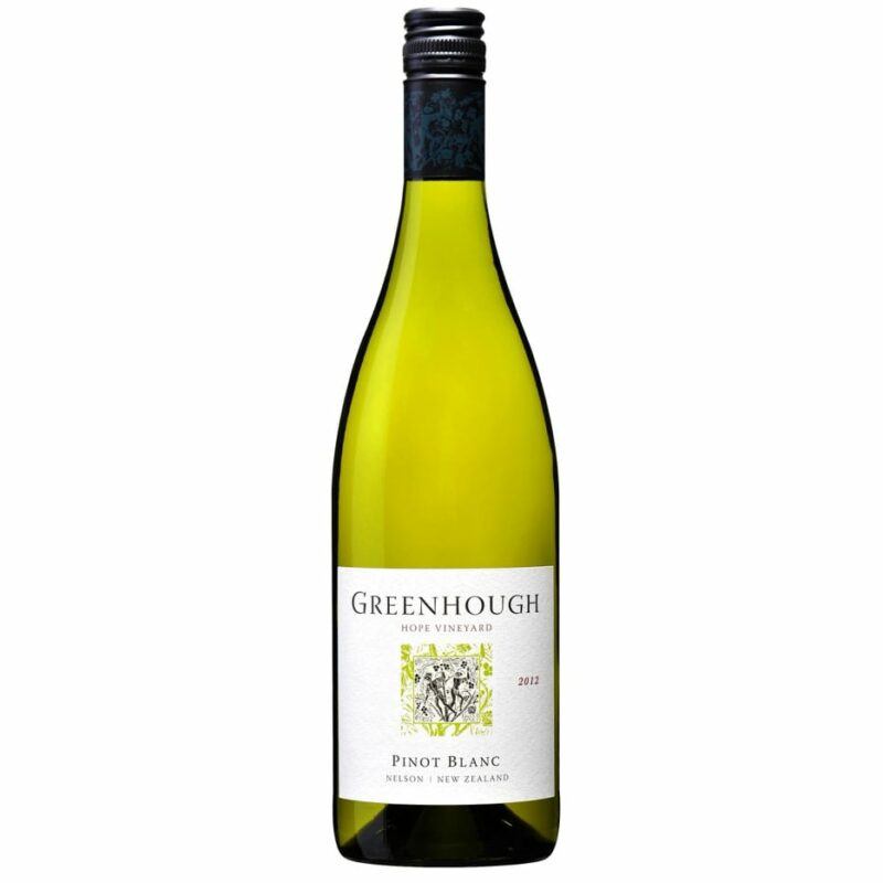 2012 Greenhough Hope Vinyard Pinot Blanc, Nelson, New Zealand
