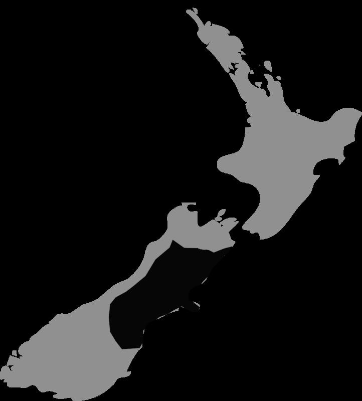 Neuseeland Karte Canterbury Waipara