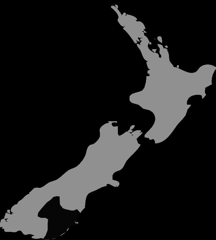 Neuseeland Karte Central Otago Neuseeland