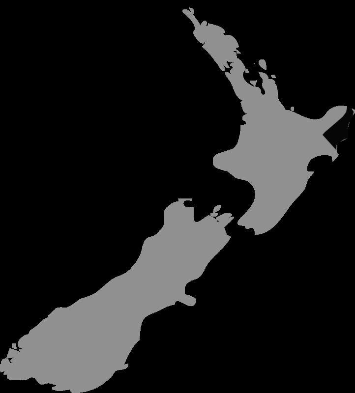 Neuseeland Karte Gisborne