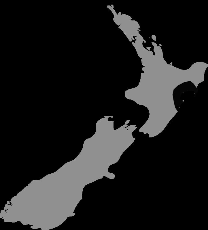 Neuseeland Karte Hawke's Bay