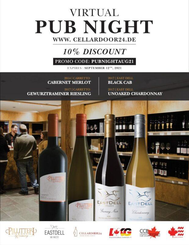 Kanada Promo Flyer Virtul Pub Night